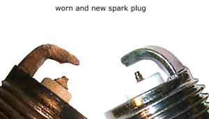worn spark plug